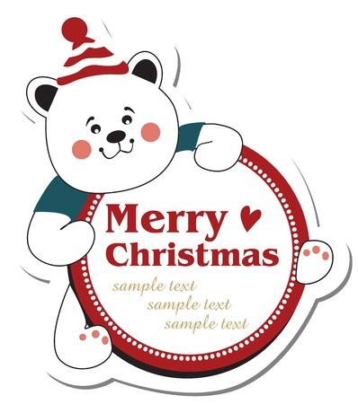 osos navideños: navidad oso de peluche Vectores