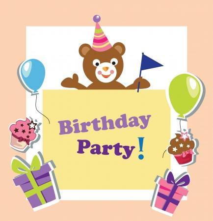 Birthday party invitation card royalty free cliparts vectors and kids birthday invitation card vector stopboris Choice Image