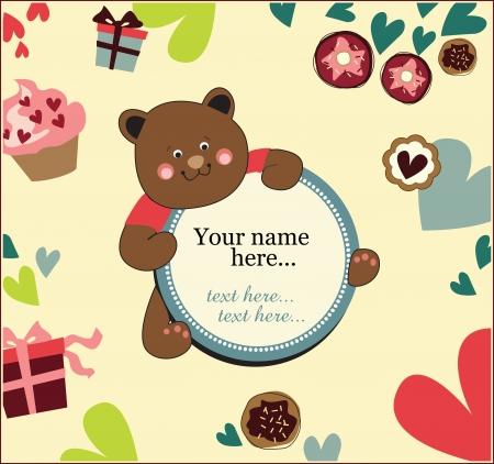 editable invitation: kids birthday invitation card Illustration