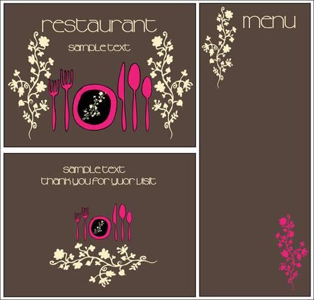 chef clipart: restaurant menu design Illustration