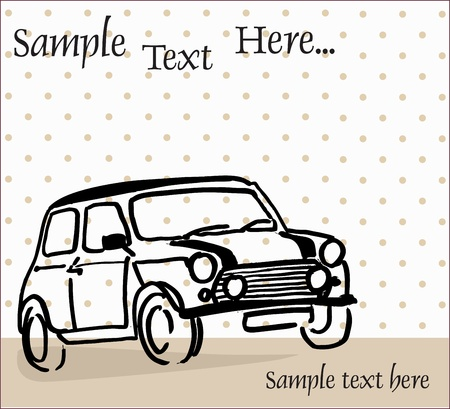 auto illustratie: miniauto
