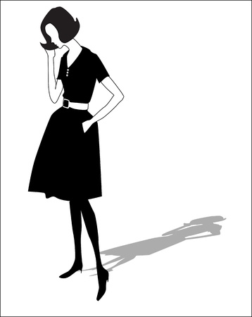 Fancy silhouette Vector