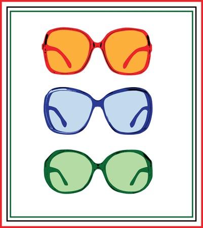 vector sun glasses Vettoriali