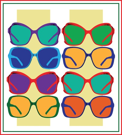 vector sun glasses Stock Vector - 18893063