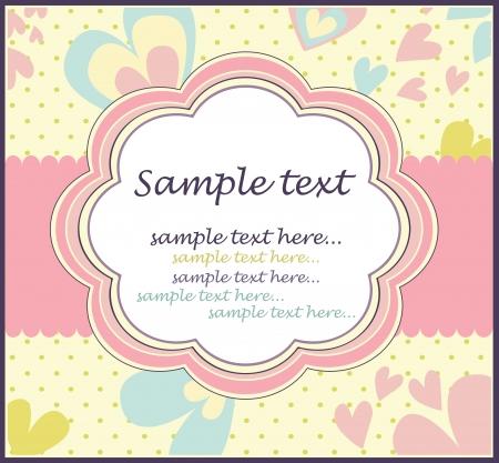 infant: New baby shower invitation Illustration