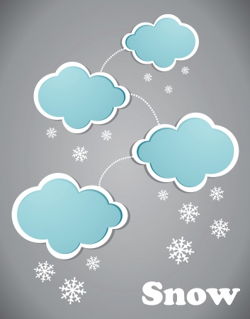 snow drops: Clouds and snow Illustration
