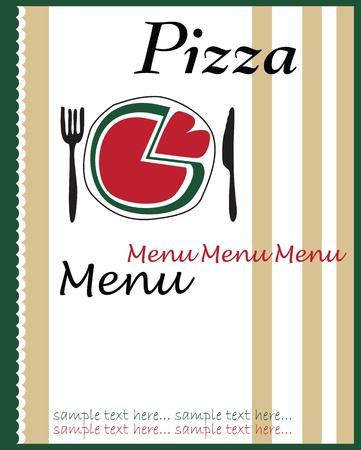 pizza menu Illustration