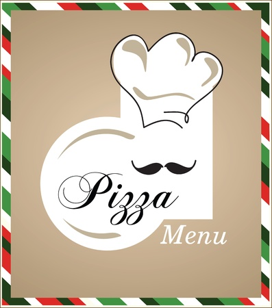 pizza chef menu Vector
