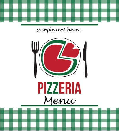 pizza menu Illustration