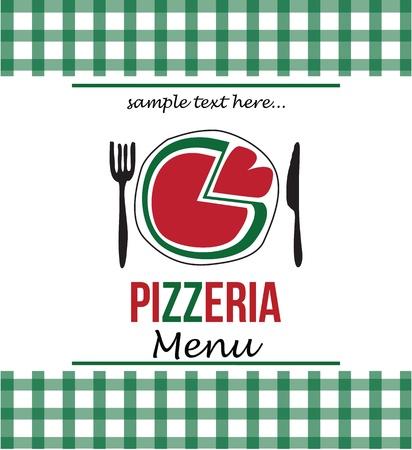 pizza menu Иллюстрация