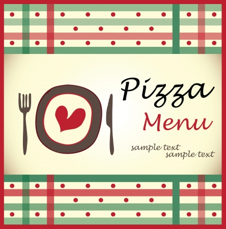 pizza menu design Vector