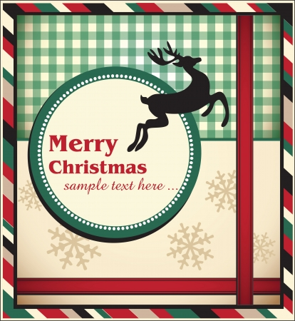 Template Christmas greeting card, vector illustration Stock Vector - 18893102