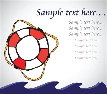 lifebelt: nautical life-belt background