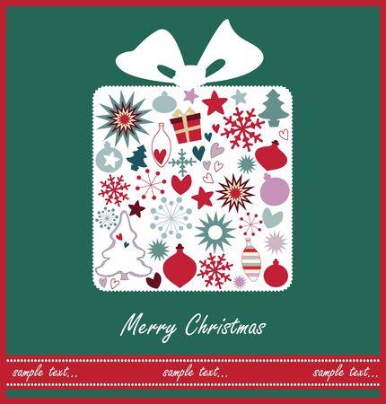 Christmas gift card Stock Vector - 18893108