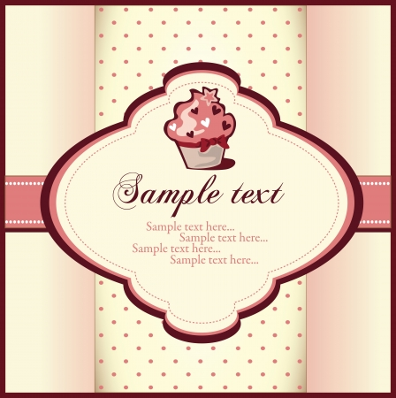 cupcake card Stock Vector - 18893088