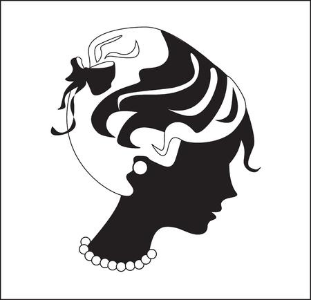 woman profile: Beautiful woman profile silhouette
