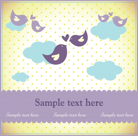 baby shower or birthday invitation card Stock Vector - 18893107