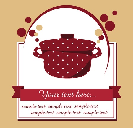 recipe: recipe card  vector illustration