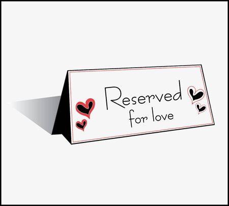 reservation: Illustration of reservation sign
