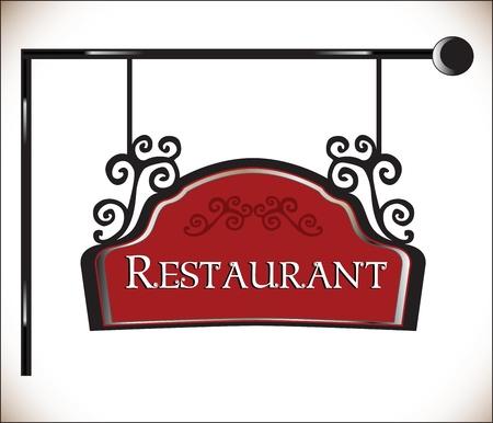 restaurant vector sign