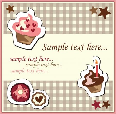 baby cupcake: Cupcake  birthday Card