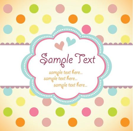 wedding background: Template frame design for greeting card