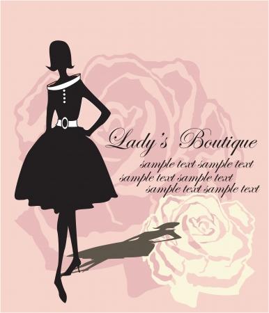 catwalk model: silhouette su sfondo rosa