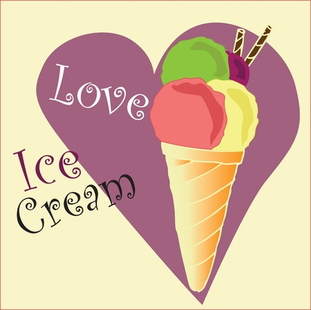 ice cream background Vector