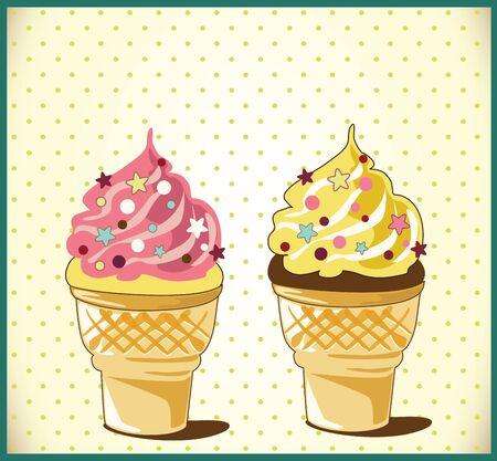 wafers: Ice cream Illustration