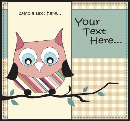 animal limb: owl card