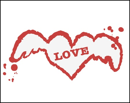 heart card Stock Vector - 18983108