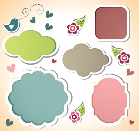 free border: cute sticker set