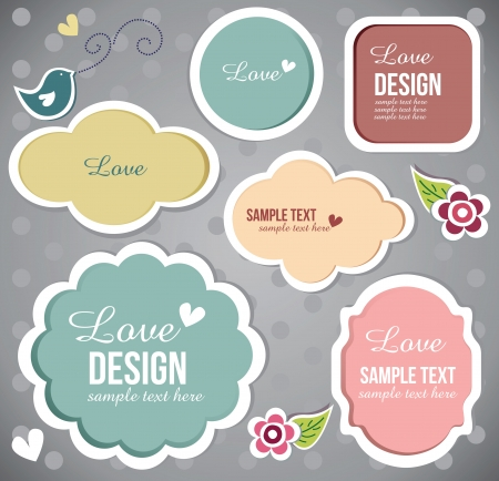 free border: cute scrapbook set of elements