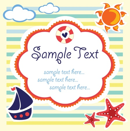 boat party: summer kids template
