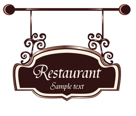 door plate: restaurant  sign