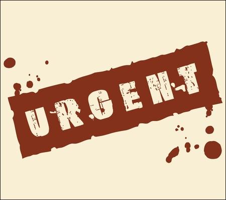 secret number: urgent grungy ink rubber stamp