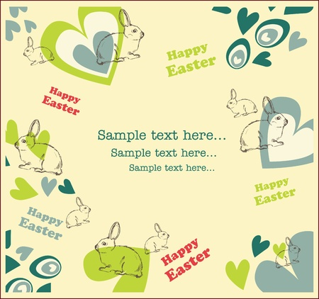 easter card or background Vector