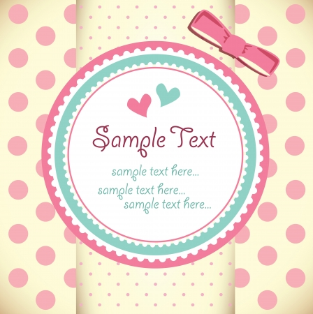 congratulations text: Template frame design for greeting card