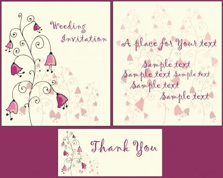 wedding reception: wedding invitation set