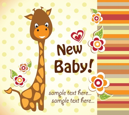 ducha de beb? con jirafa linda