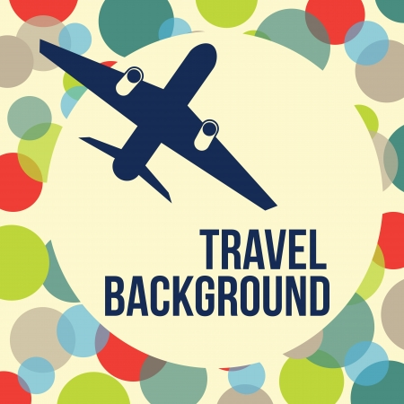 travel card: airplane travel background