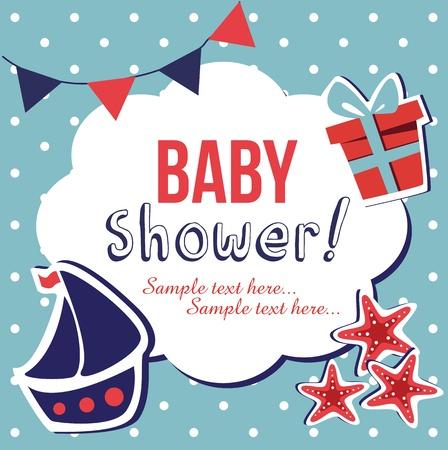 baby shower, illustration Vector