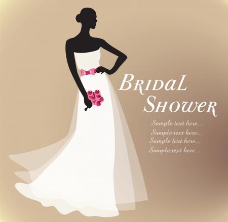 bridal shower: Bridal shower Illustration