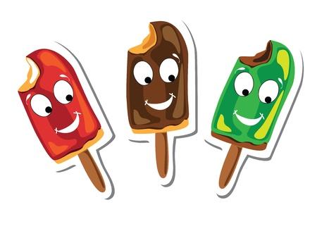 ice cream on stick: helados