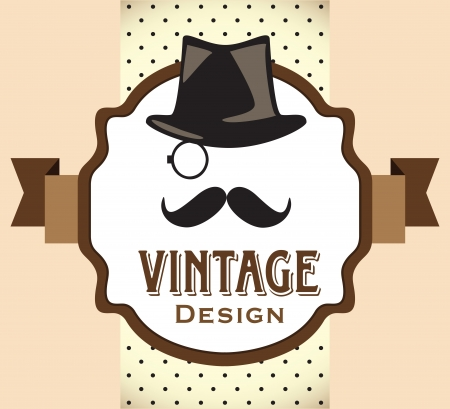 top hat: Hipster style label Illustration