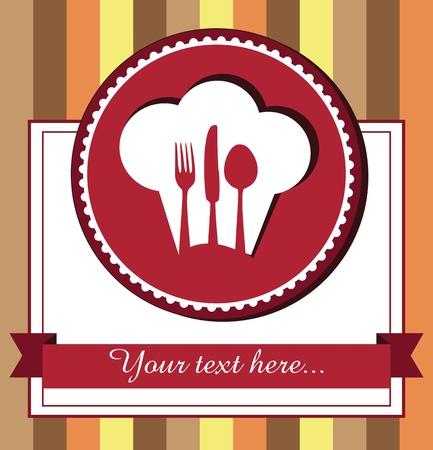 Restaurant menu design with chef hat Stock Vector - 20154686