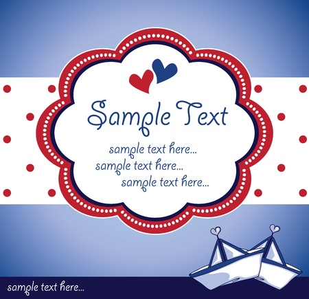 template design for a greeting card Vector