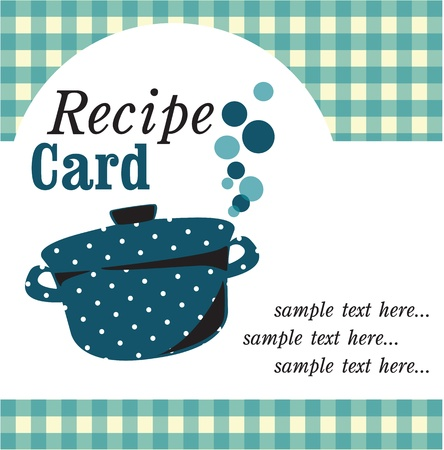 recipe book: recipe card illustration