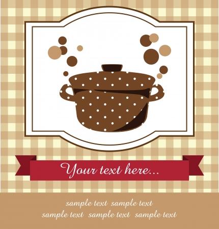 recipe book: recipe card  vector illustration