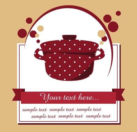 recipe book: recipe card illustration